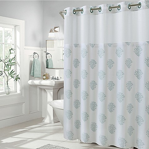 hookless coral reef shower curtains bed bath amp beyond 85734