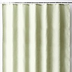 Wamsutta® 70-Inch x 72-Inch Fabric Shower Curtain Liner with Suction Cups in Green