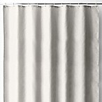 Wamsutta® 70-Inch x 72-Inch Fabric Shower Curtain Liner with Suction Cups in Silver