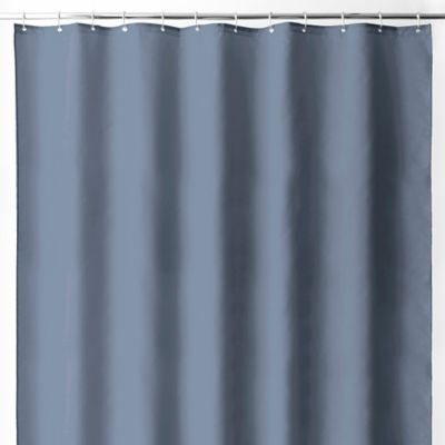 Wamsutta  70 Inch x 72 Inch Fabric Shower Curtain Liner with Suction CupsBuy Blue Fabric Shower Curtain Liner from Bed Bath   Beyond. Blue And Silver Shower Curtain. Home Design Ideas