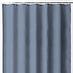 Wamsutta® 70-Inch x 72-Inch Fabric Shower Curtain Liner with Suction Cups in Riviera Blue