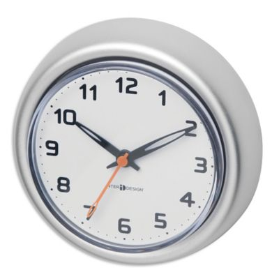 Interdesign Rust Proof Aluminum Suction Clock In Silver