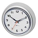 INTERDESIGN Rust-Proof Aluminum Suction Clock in Silver