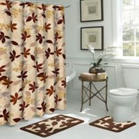 Blowing Leaves 15-Piece Bath Bundle Set in Brown