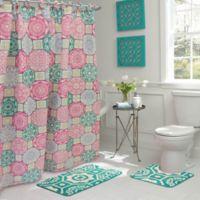 Addison 15-Piece Bath Bundle Set in Pink/Blue
