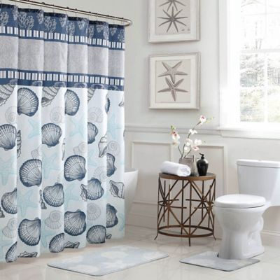 blue and gray shower curtain. Island 15 Piece Bath Bundle Set in Blue Grey Buy and Shower Curtains from Bed  Beyond