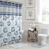 Island 15-Piece Bath Bundle Set in Blue/Grey