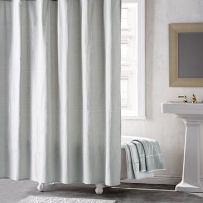 dkny geometrix shower curtain in whiteslate
