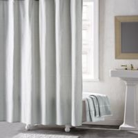 DKNY Geometrix Shower Curtain in White/Slate