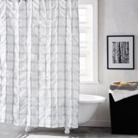 DKNY® Check Please 72-Inch Shower Curtain in White/Black