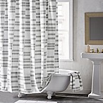 DKNY High Rise Shower Curtain in White/Smoke