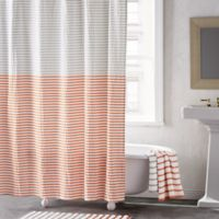 DKNY® Parsons Stripe 72-Inch Shower Curtain in Vermillion