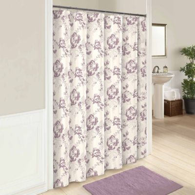 purple and brown shower curtain. Bonita 72 Inch Shower Curtain in Purple Buy Curtains from Bed Bath  Beyond