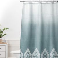 DENY Designs 69-Inch x 72-Inch Dash and Ash Morning Fog Shower Curtain in Blue