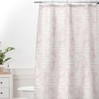 DENY Designs Dash and Ash Rose Bud Mud Cloth Standard Shower Curtain in Pink