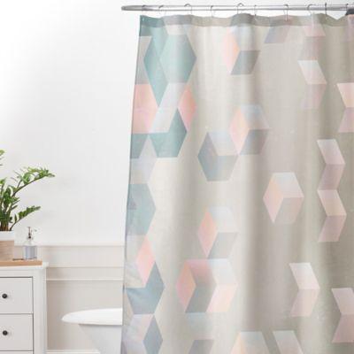 DENY Designs Emanuela Carratoni Exagonal Geometry 69 Inch X 90 Inch Shower  Curtain In