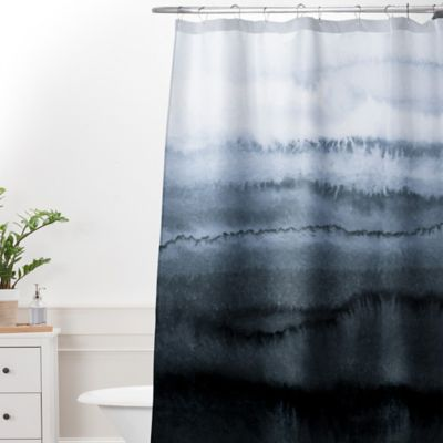 DENY Designs Monika Strigel Within The Tides Stormy Weather Extra Long Shower Curtain