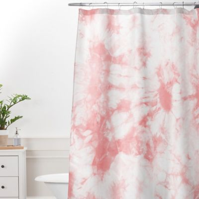 DENY Designs Amy Sia Tie Dye 3 Extra Long Shower Curtain In Grey