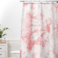 DENY Designs Amy Sia Tie Dye 3 Standard Shower Curtain In Grey