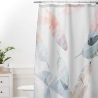 DENY Designs Iveta Abolina Coral Shoreline 72 Inch Shower Curtain In Grey