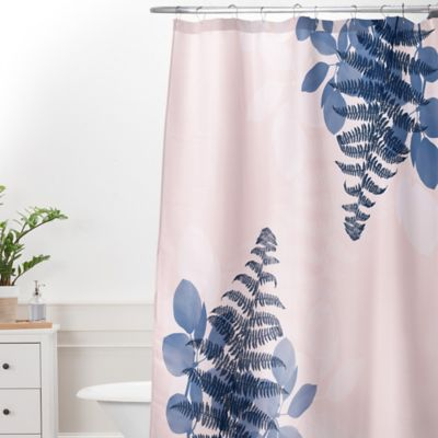 DENY Designs Viviana Gonzalez Botanical Vibes Extra Long Shower Curtain In Pink
