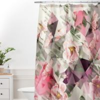 DENY Designs Marta Barragan Camarasa Geometric Shapes 69-Inch x 72-Inch Shower Curtain in Pink