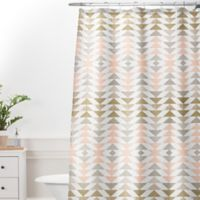 DENY Designs 69-Inch x 72-Inch Georgiana Paraschiv Metallic Triangles Shower Curtain in Gold