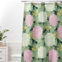 DENY Designs 69-Inch x 72-Inch Belle13 Hydrangea and Butterflies Shower Curtain