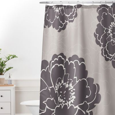 deny designs caroline okun winter peony extralong shower curtain