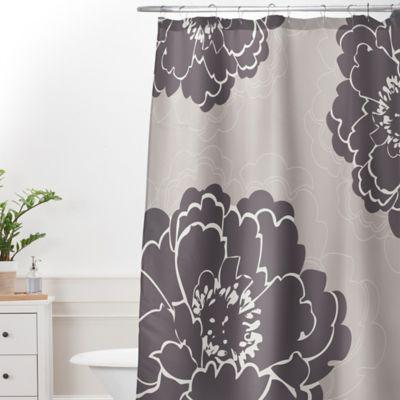 DENY Designs Caroline Okun Winter Peony Extra Long Shower Curtain