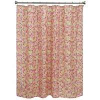 Bacova Mosaic Tile Shower Curtain in Orange/Red