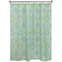 Bacova Mosaic Circle Shower Curtain In Blue Green