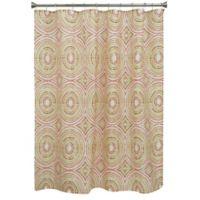 Bacova Mosaic Circle Shower Curtain in Orange/Red