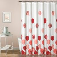 Flying Balloon Shower Curtain in Pink