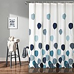 Flying Balloon Shower Curtain in Blue