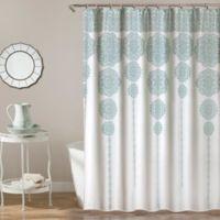 Stripe Medallion 72-Inch Shower Curtain in Blue