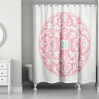 Moroccan Circles Shower Curtain In Pink
