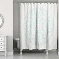 Moroccan Circles Shower Curtain In Teal