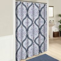 Lotus 72-Inch Cotton Shower Curtain in Blue