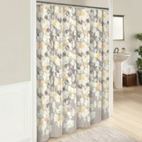 Garden Party 72-Inch Cotton Shower Curtain in Grey