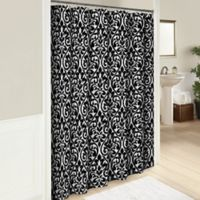 Hadley 72-Inch Cotton Shower Curtain in Black
