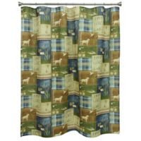 Bacova Live Love Lake Shower Curtain in Green/Blue