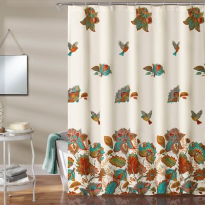 Bird And Flower 72 Inch Shower Curtain