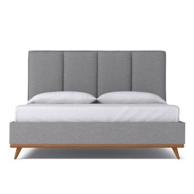 kyle schuneman carter california king upholstered bed in mountain grey
