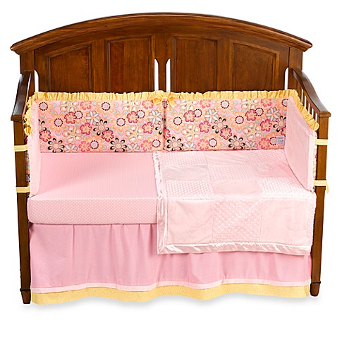 Kathy Ireland Home Sweetie Pink Crystals 4-Piece Crib Set by Thank You Baby