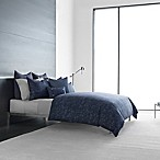 Vera Wang™ Home Chevron Queen Duvet Cover in Dark Blue