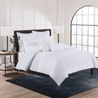 Hailey Twin Duvet Cover Set in White