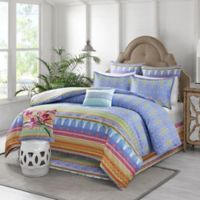 Sophia King Duvet Cover Set in Aqua/Green