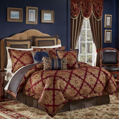 croscill sebastian king comforter set in rednavy