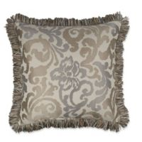 Austin Horn Classics Elegance 20-Inch Square Throw Pillow in Taupe/Grey